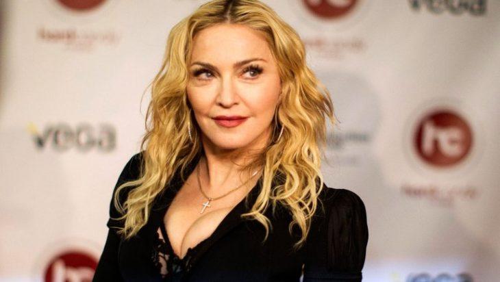 Madonna en una entrega