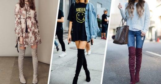 15 formas en las que puedes usar las botas sobre la rodilla