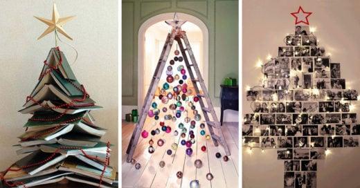 15 ideas de árboles navideños que solo te tomarán 15 minutos hacer