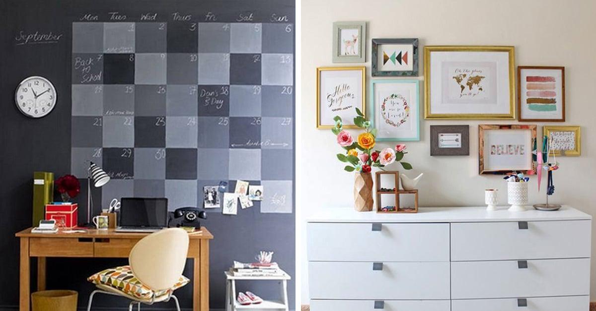 20 ideas para renovar las paredes de tu habitación
