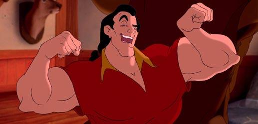 caricatura hombre grande con músculos