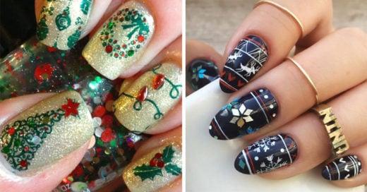 15 diseños de uñas que te harán amar la Navidad