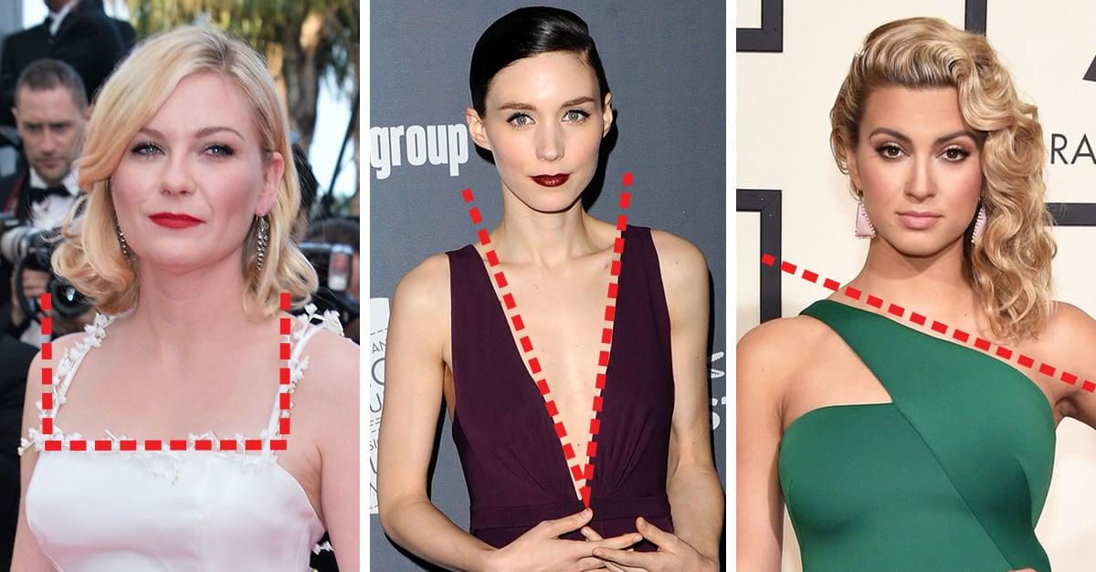 10 ejemplos de escote con ideas de peinado que son perfectas para tu vestido