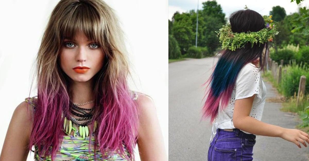20 ideas para teñir de colores las puntas de tu cabello