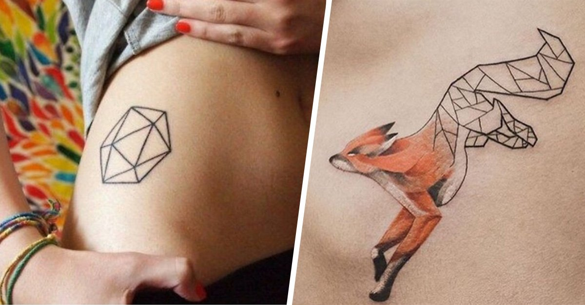 35 tatuajes geométricos que te encantarán por su perfección