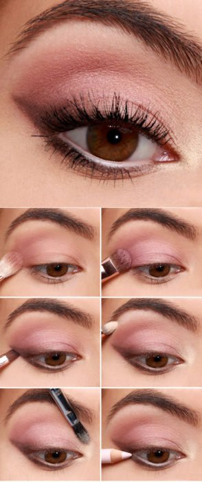 Tutorial con sombras en color rosa