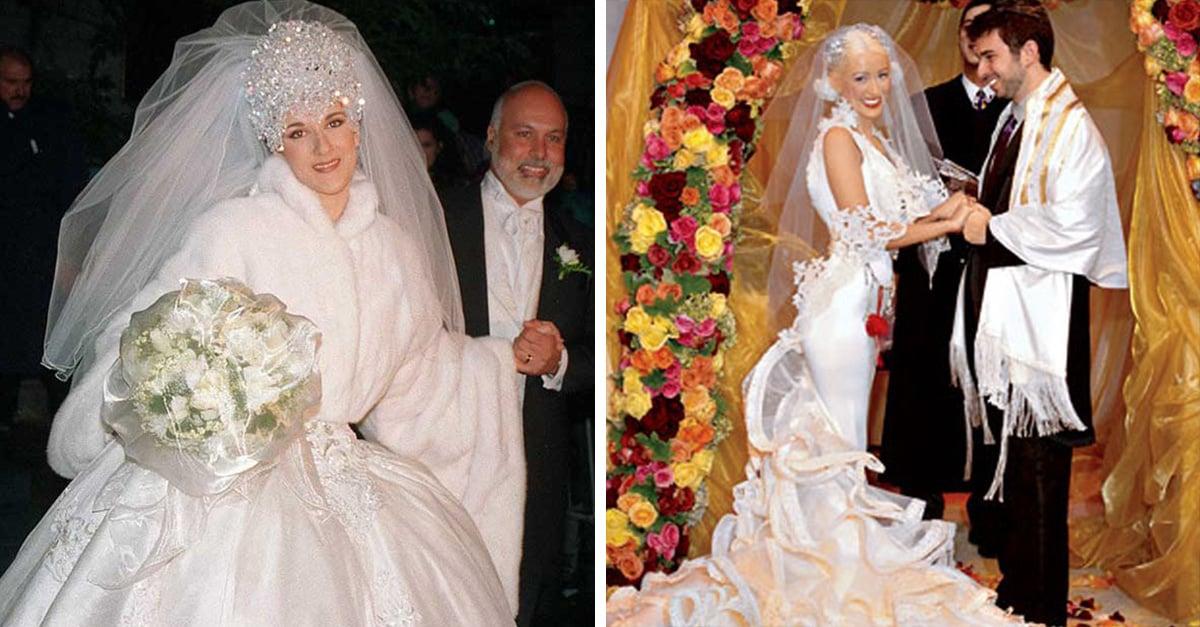 20 famosas con vestidos desastrosos el día de su boda