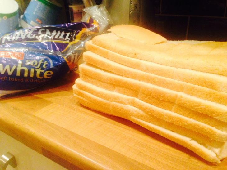 pan cortado en horizontal