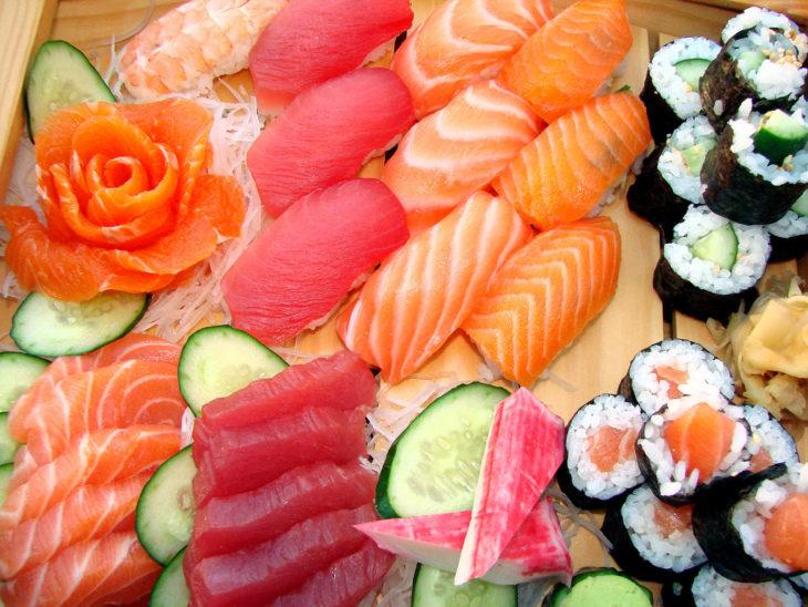 pescado y sushi