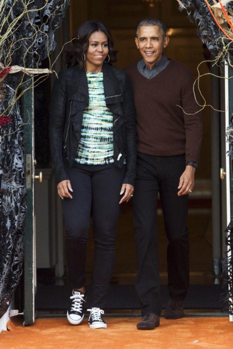 Michelle obama usando converse