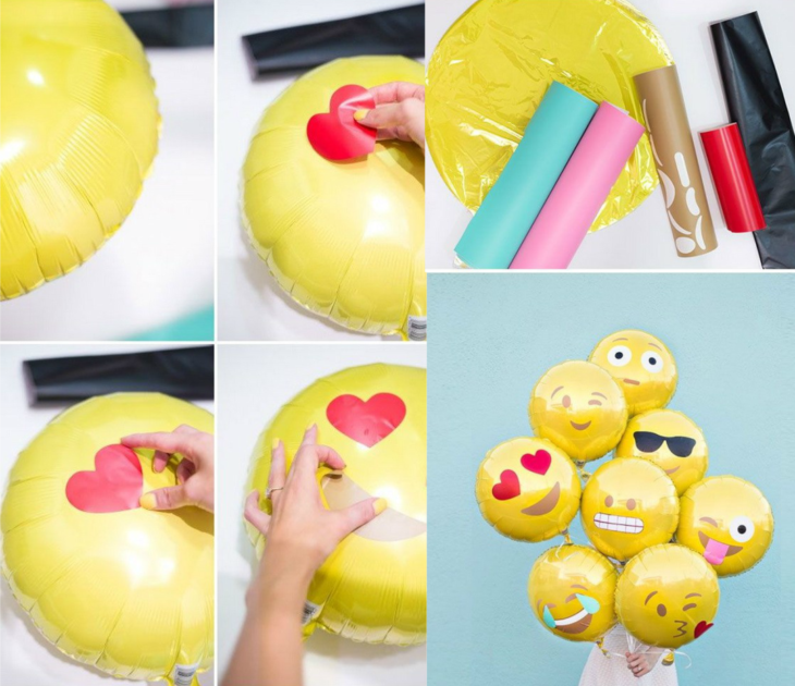 globos en forma de emojis de whatsapp