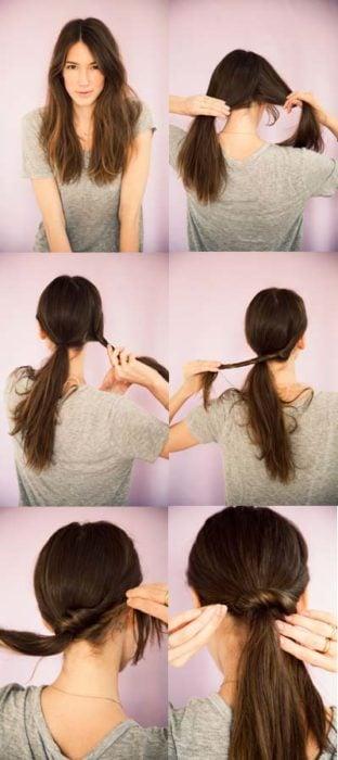 coleta cabello largo