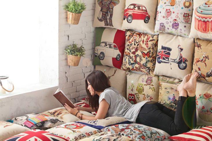 cama de cojines