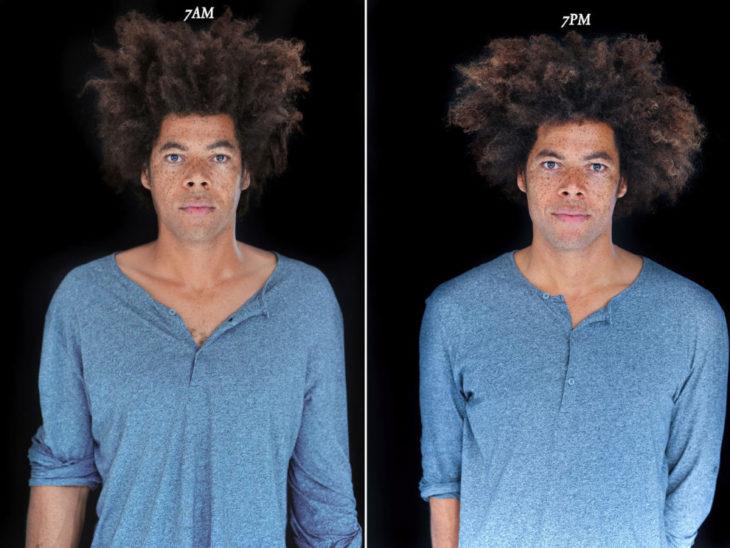 chico con cabello afro