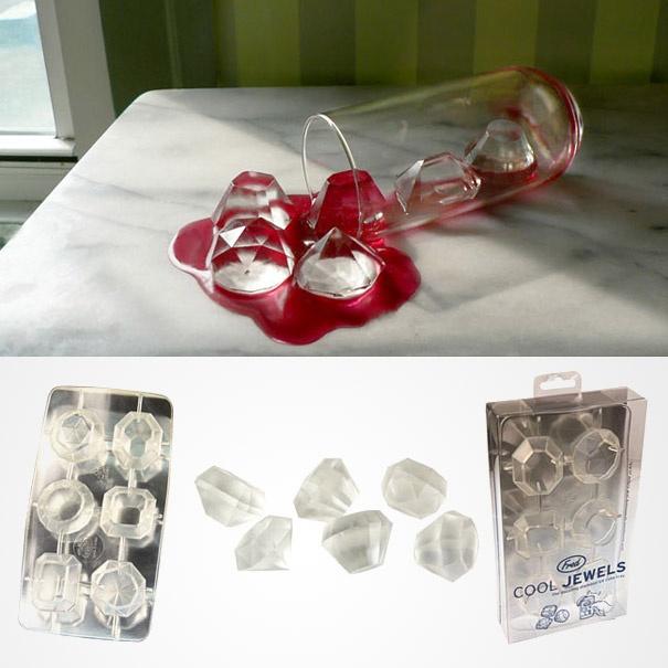 molde de hielos de diamante