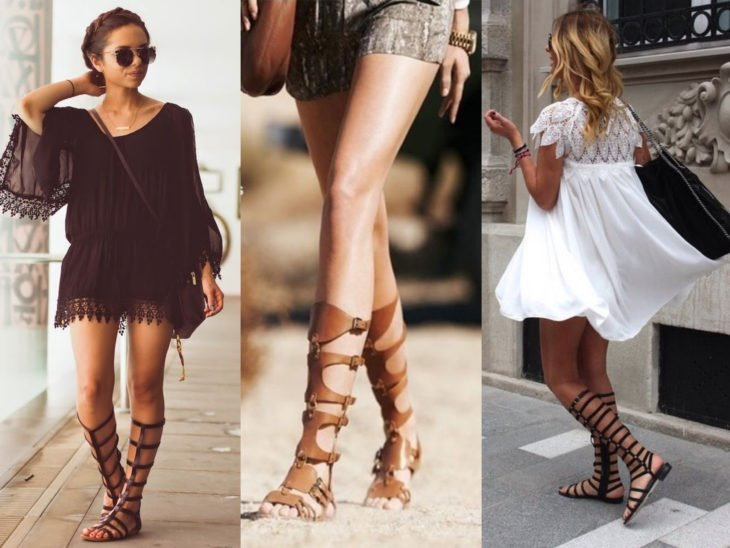 sandalias estilo gladiador