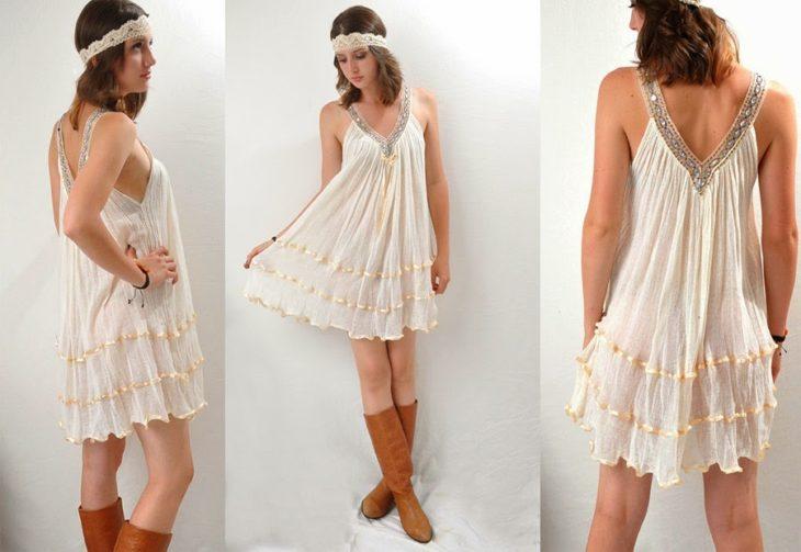vestido corte carpa