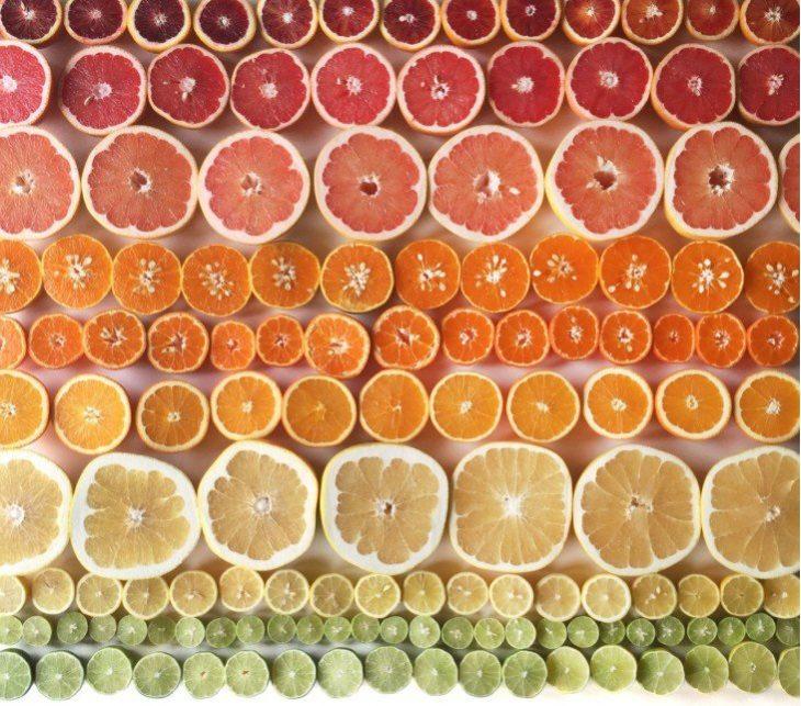 naranjas degradadas