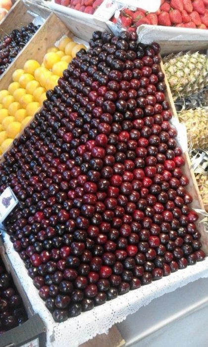 perfecta pila de manzanas