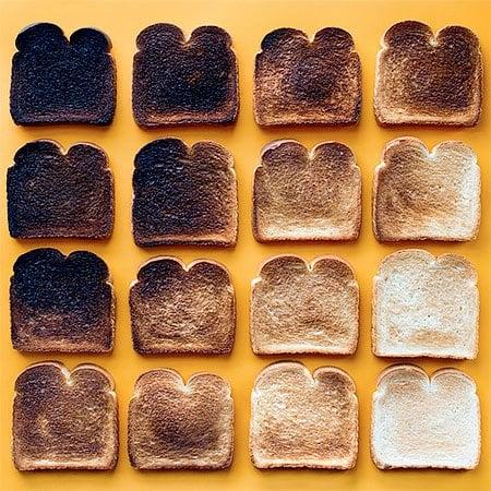 pan tostados degradado