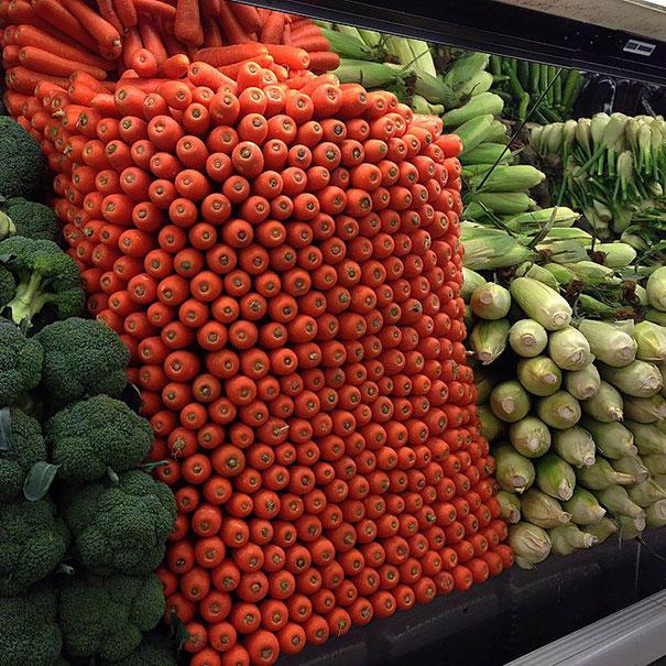 verduras por color y tamaño