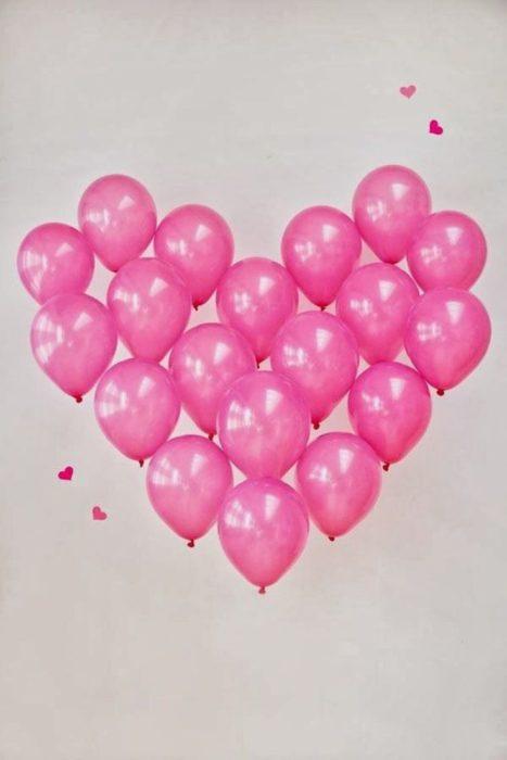corazon de globos gigante