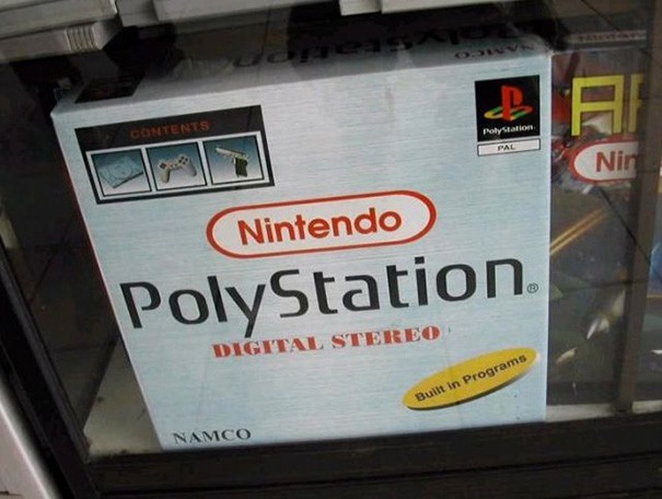 caja de aparato poly station nintendo