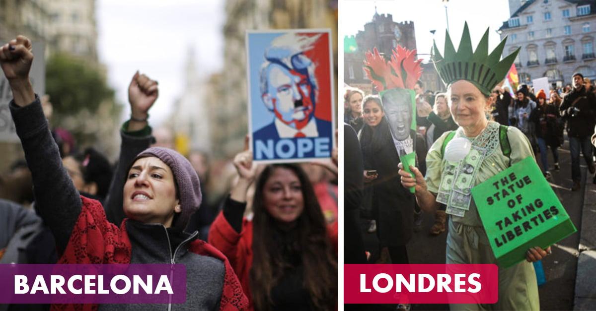 30 poderosas imágenes de la 'Marcha de las Mujeres' en el mundo
