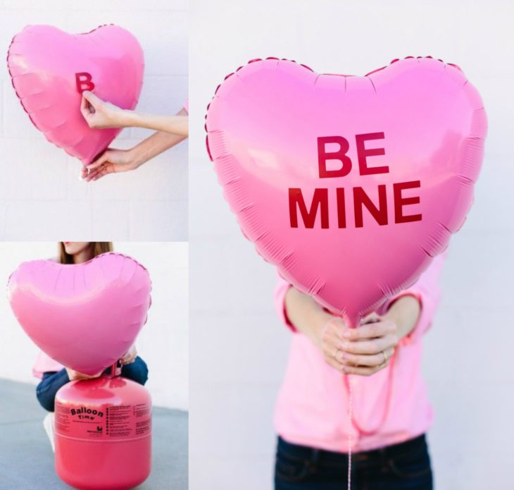 globo rosa con frase