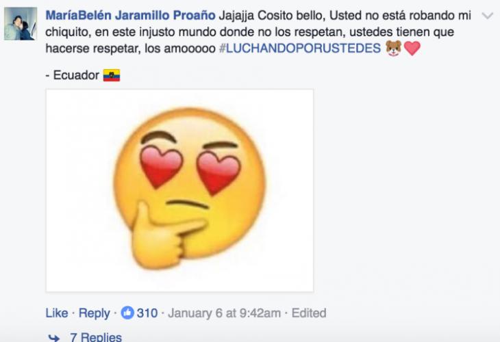 captura de pantalla con emoji de cara de corazones