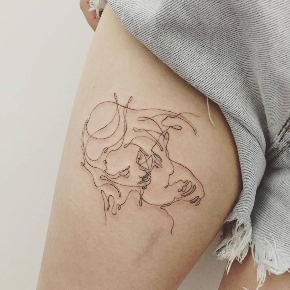 20 Tatuajes Hechos Siguiendo El Trazo De Una Línea