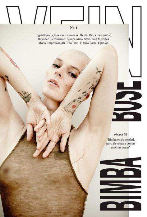 Bimba bosé en la portada de una revista