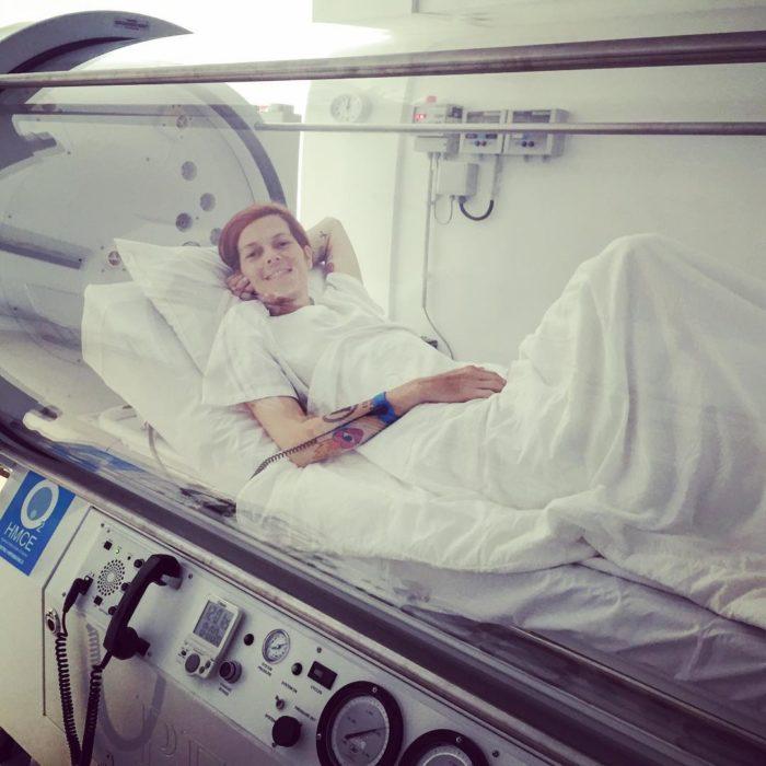Bimba bosé en un tratamiento contra el cáncer
