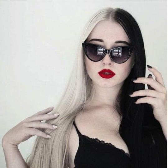 cabello blanco y negro