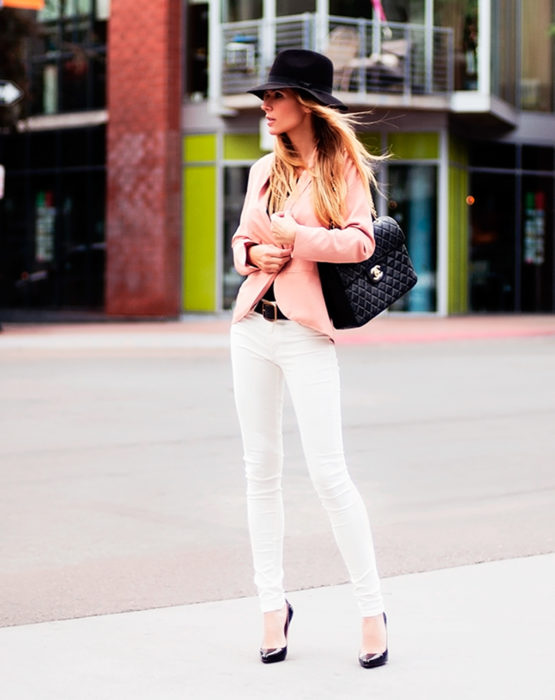 Pantalón blanco blazer