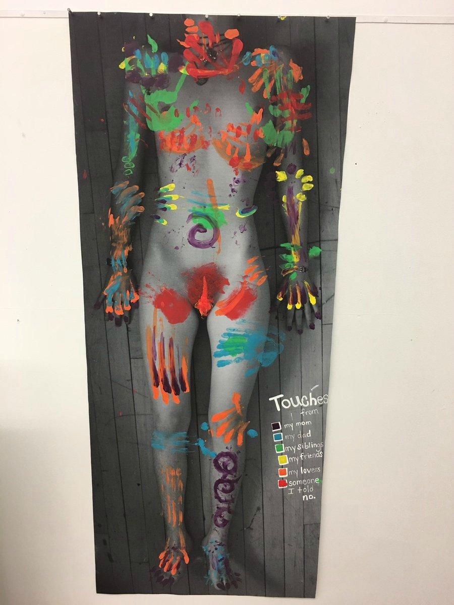 Artista recrea un mapa del cuerpo después de abuso sexual
