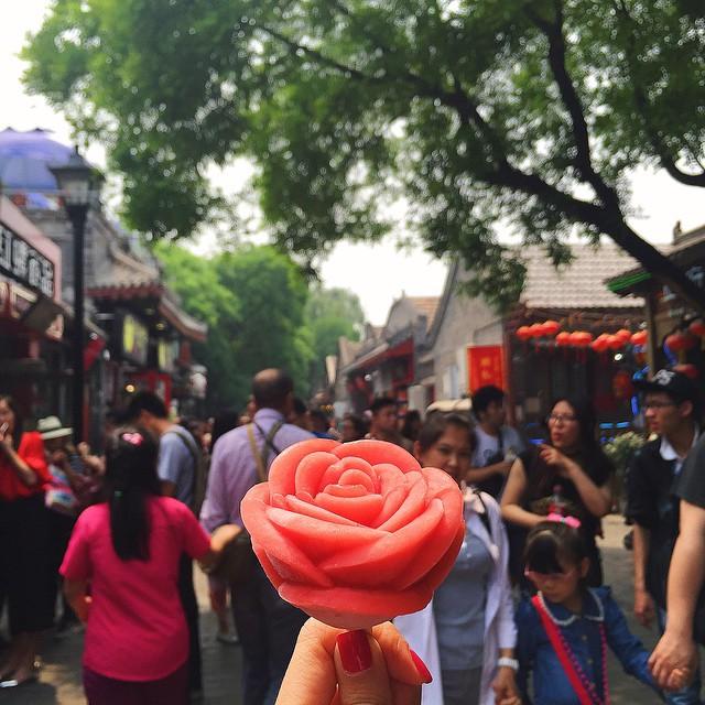 Rosa de helado de Beijing