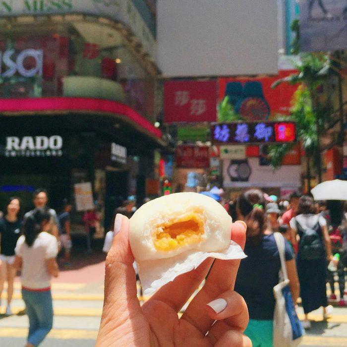 Pan de huevo de hong kong