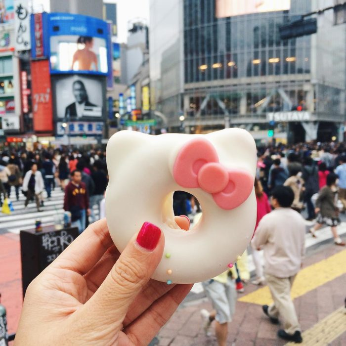 Dona en forma de Kitty en tokyo