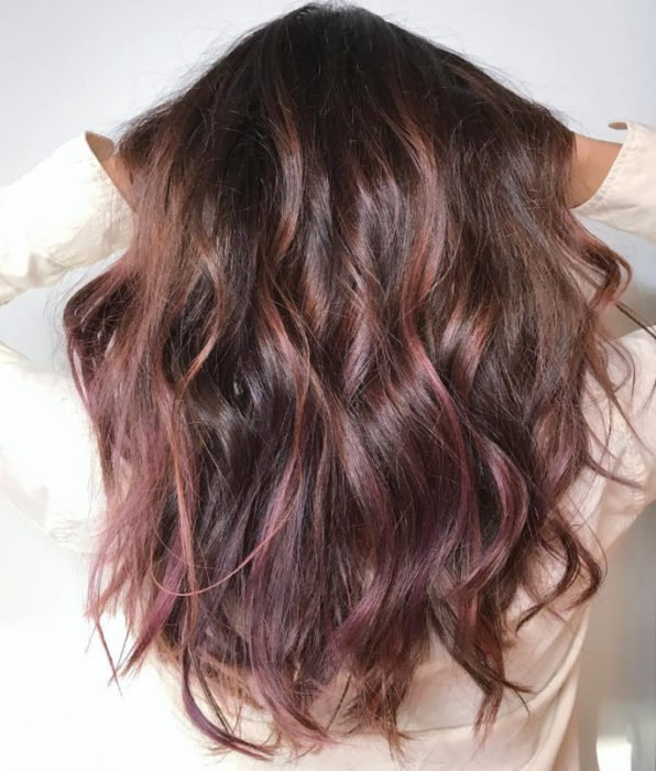 cabello chocolate mauve