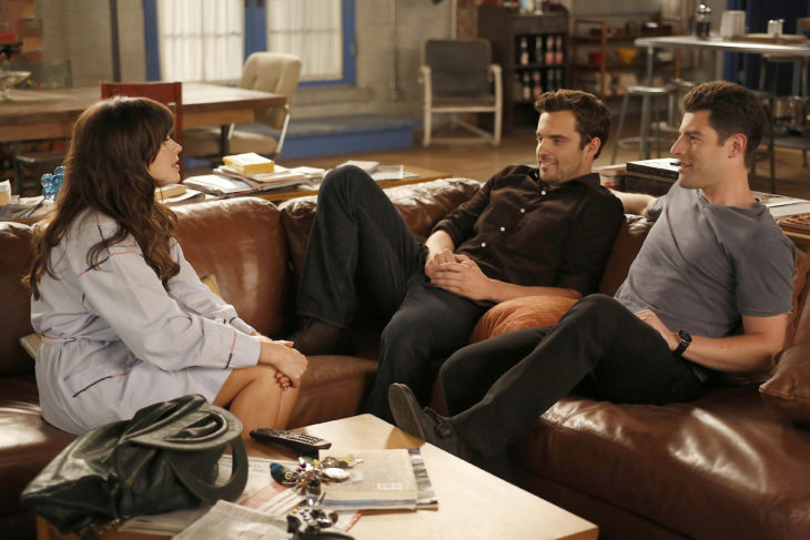 Escena de la serie New girl. Nick y Jess