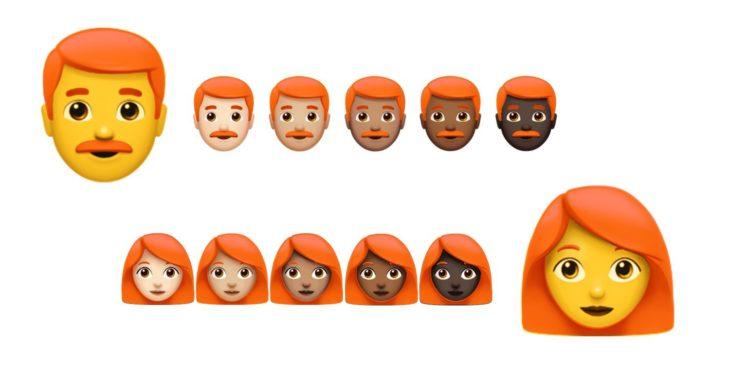 Emojis de pelirrojos