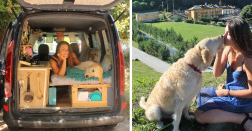 Esta mujer restauro su camioneta para recorrer el mundo junto a su perro