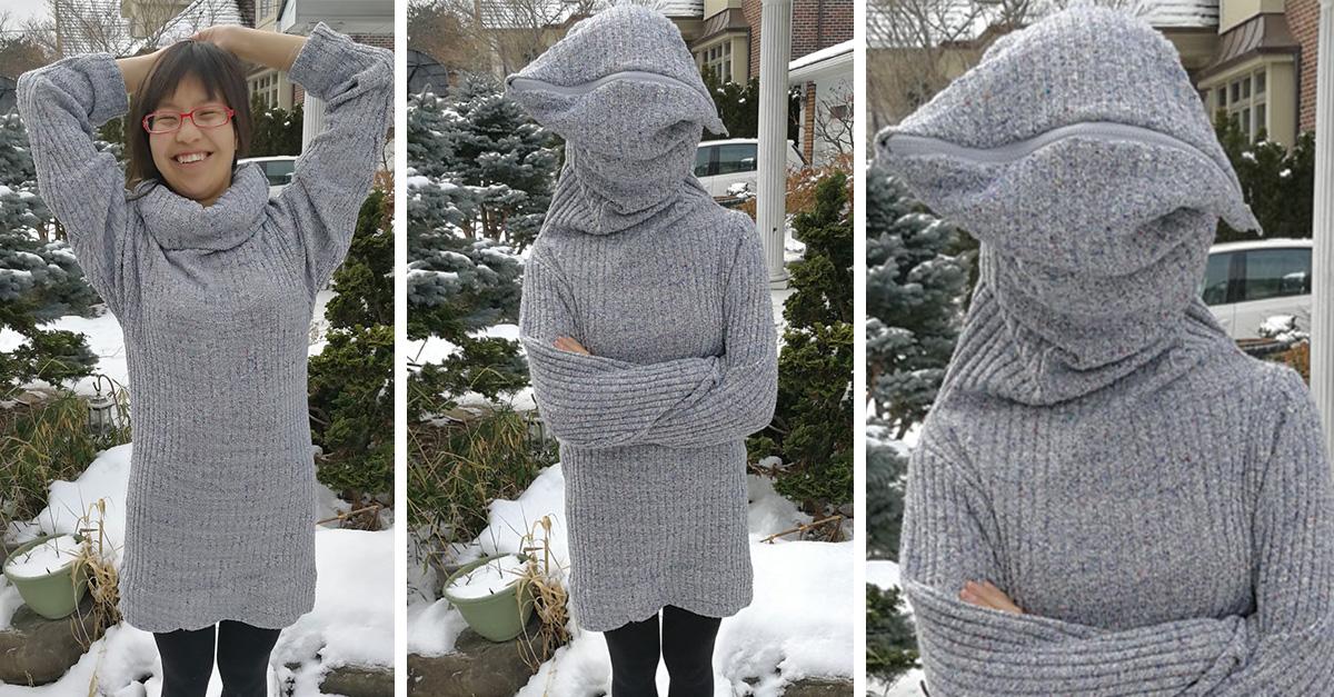 Este suéter promete ayudarte cuando necesites estar sola