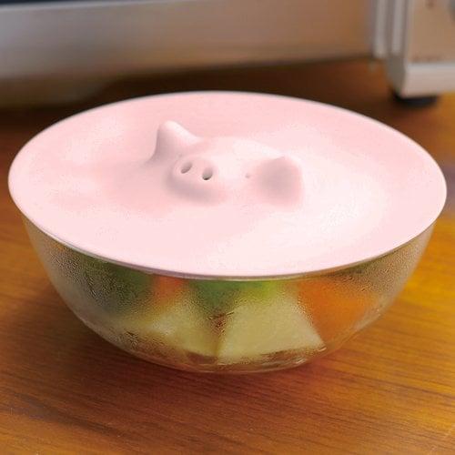 Tapa para cubrir comida en forma de cerdo