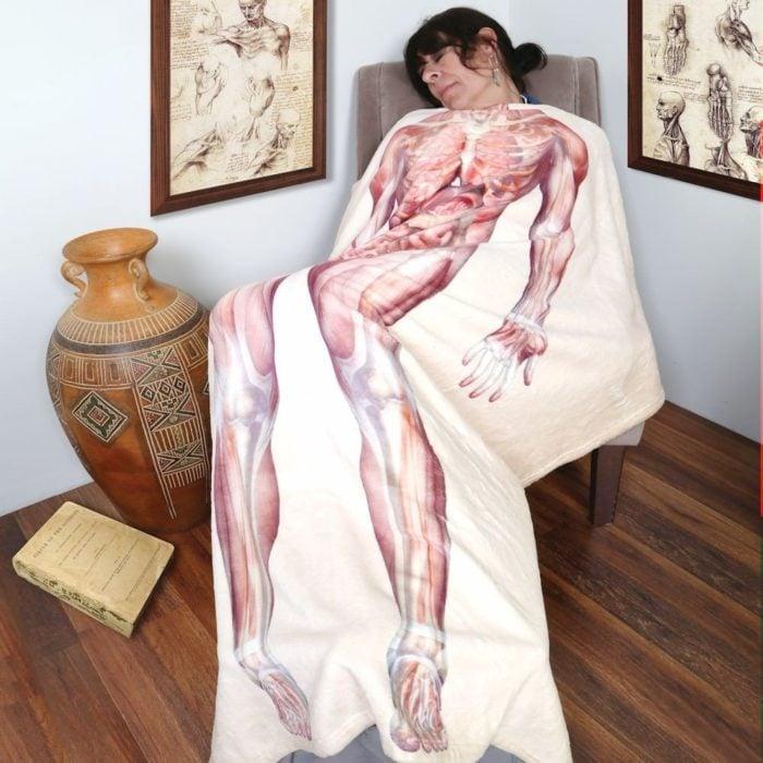 Manta en forma de anatomía