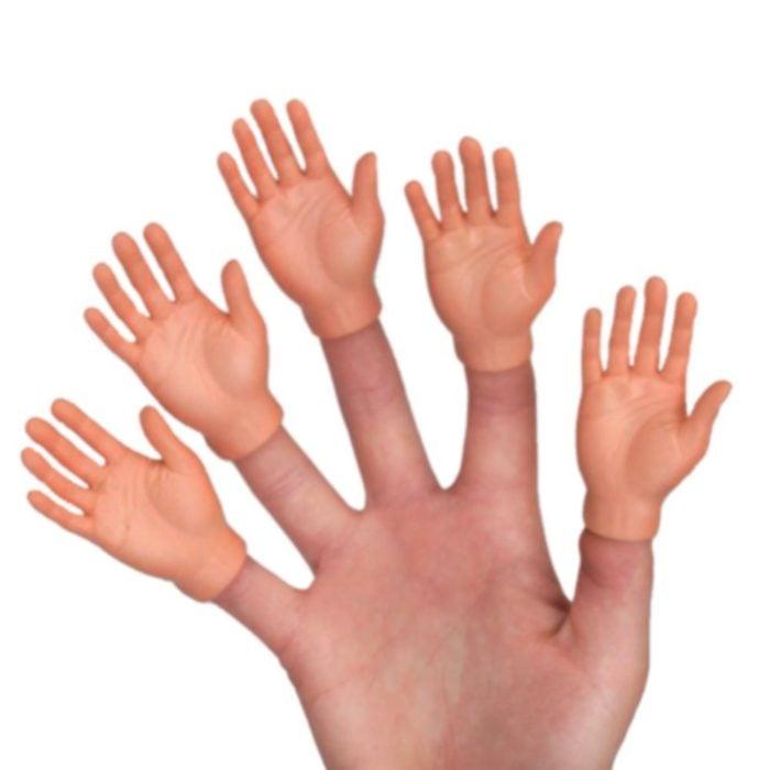 Conjunto de manos de goma que se ponen en los dedos de las manos