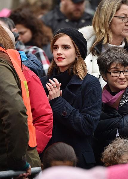 Emma Watson en marcha contra Trump