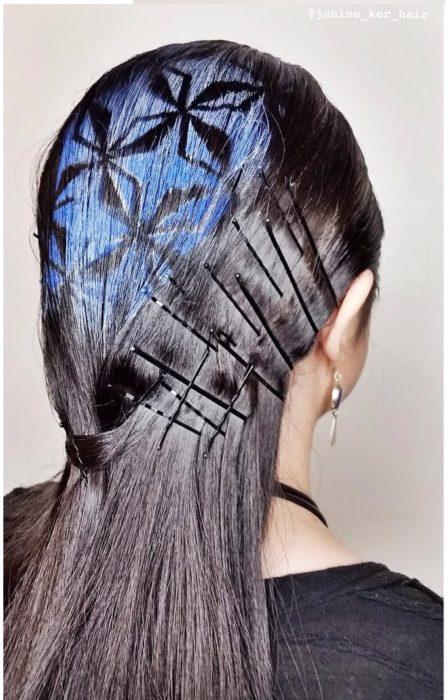 figuras geometricas en el cabello