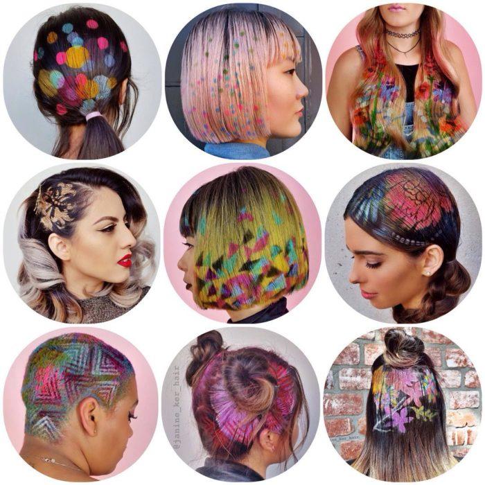 Hair Stencil diseños